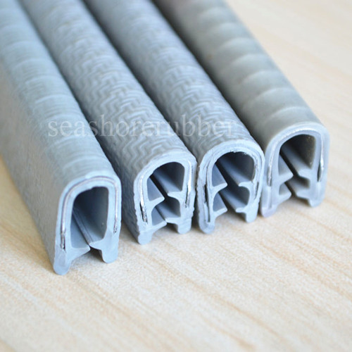 Gray PVC Edging Trim Profile - Seashore Rubber&Plastic